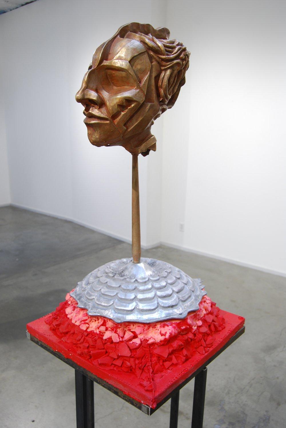 "Percocet - bronze, aluminum, silicon rubber, steel   2013    75""x18""x18""  #4.jpg"