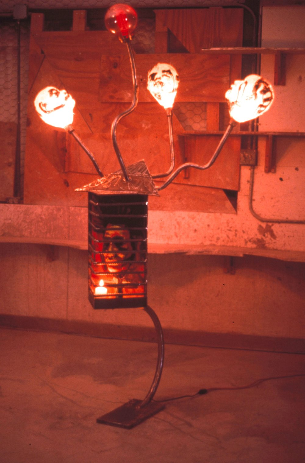 - Untitledfiberglass, plaster, paint, steel, candle1997
