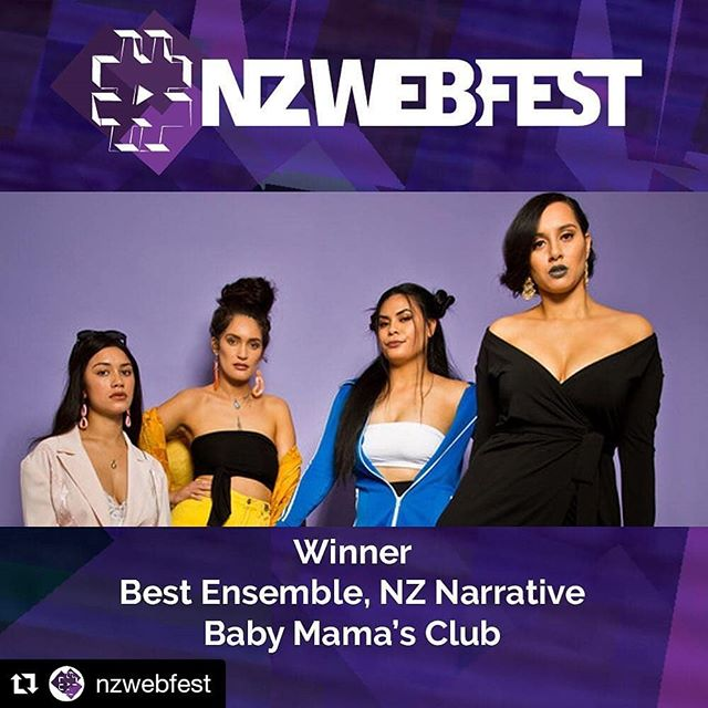 Congrats to @thebabymamasclub for winning several  @nzwebfest awards!! We can't wait to see us in your awesomeness soon!! #Repost @nzwebfest (@get_repost) ・・・ Our third tie of the evening is in the BEST ENSEMBLE: NZ NARRATIVE category. Let's hear it for the casts of BABY MAMA'S CLUB and POT LUCK . . . . . @thebabymamasclub @potluck_webseries @nz_on_air @tvnz.ondemand @tvnz.official #webseriesworldcup #nzwebfest #webfest #webfests #webseries #digitalseries