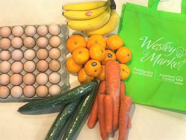 Bargain hauls at the Wesley Market.  Every Tuesday and Friday morning!