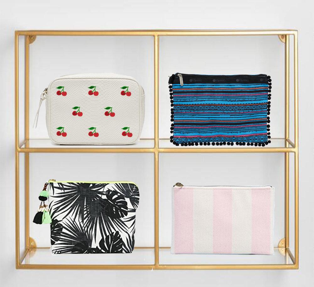 Shop - Cherries, Hudson + BleeckerPom Poms, LesportsacPalm Leaf, Jade TribeStripes, Madewell