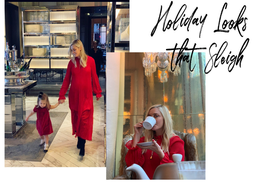 Tis' the season to go bold on colors, embellishments and high shine. I've pulled together a good mix of my favorite tops, pants, jumpsuits and dresses to make sure your party look is effortless but still has you shining merry & bright!