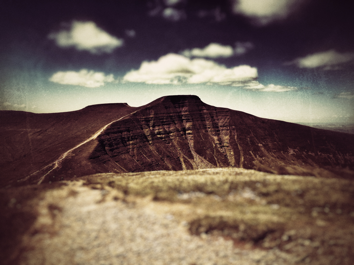 Pen y Fan and Corn Du from Cribyn.