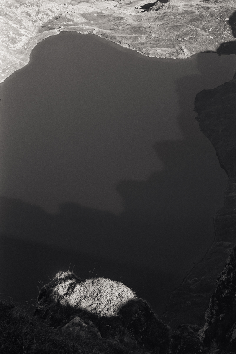 Shadows on Llyn Cau.