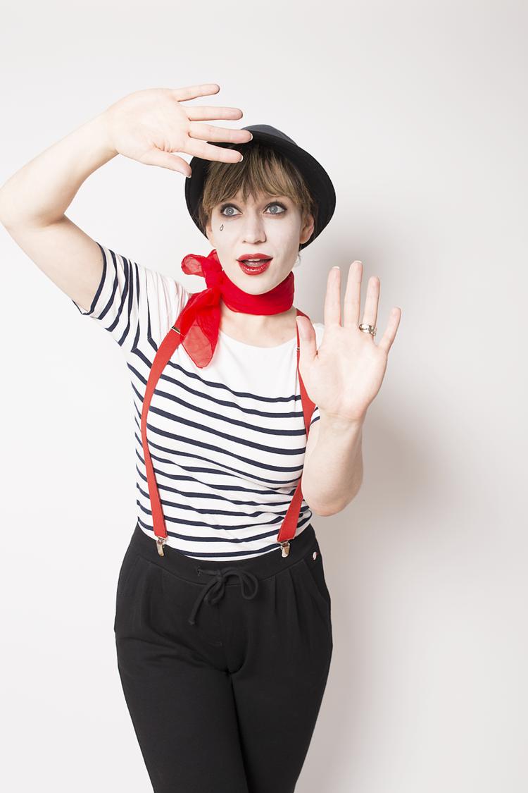 easy halloween costume mime