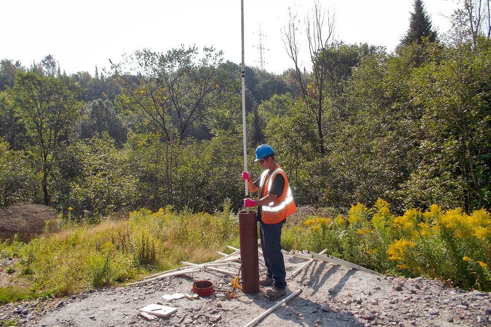 Inspection caméra d'un puits dans le cadre d'un projet de recherche et développement
