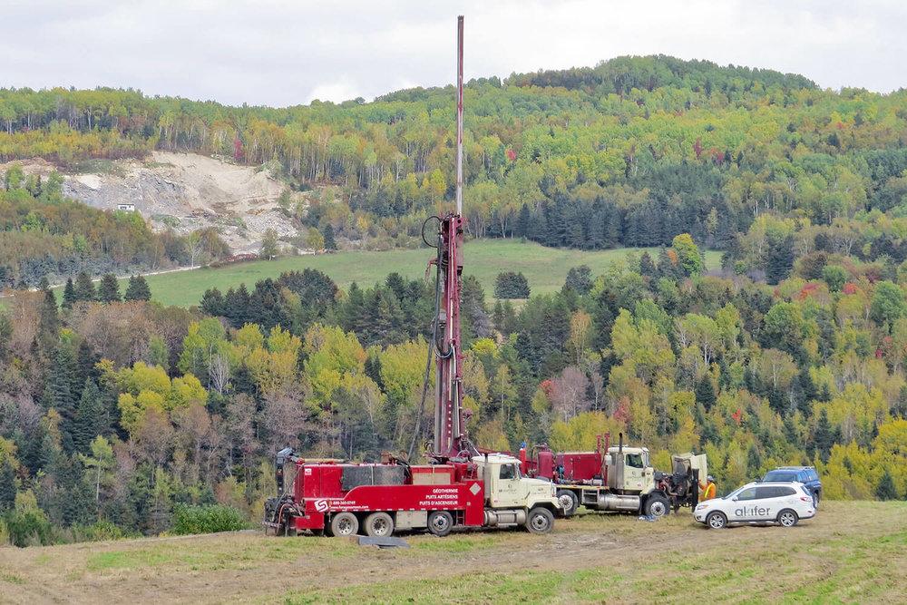 Recherche en eau souterraine – Municipalité de Saint-Urbain