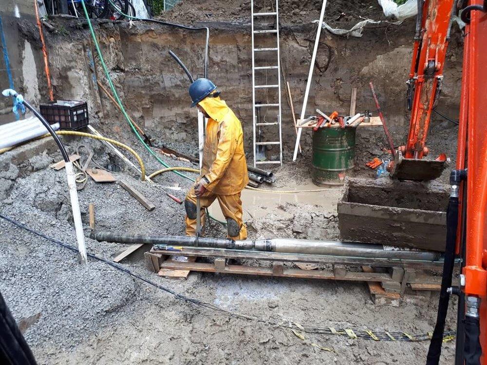 Traitement par oxydation chimique des sols sous un bâtiment - Site à Saint-Hyacinthe
