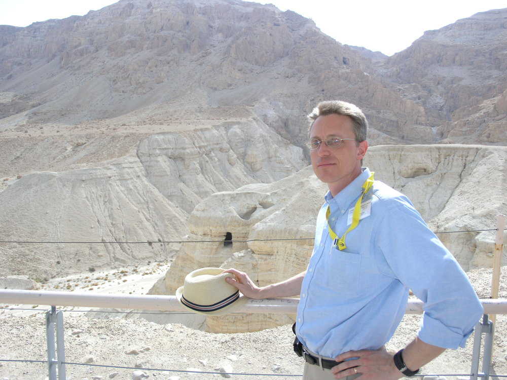 Dr. Bergsma at the famous Qumran Cave 4, where most of the scrolls were found.