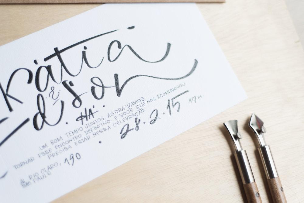 Casamento - Para mim, um casamento não começa quando os noivos entram, começa bem antes quando o convite chega.