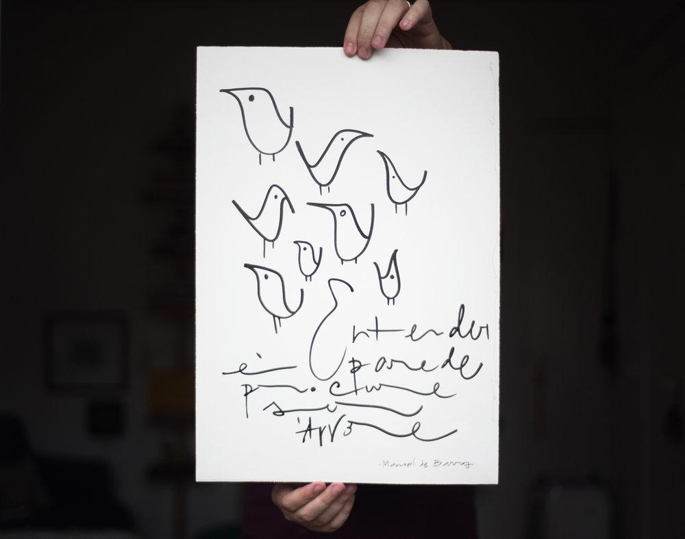 Quadro - Não pense em prints - pense numa peça sob medida, com a frase que você sempre sonhou. Yes, we can.