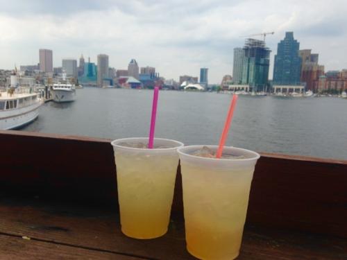 Orange Crushes at The Tiki Barge