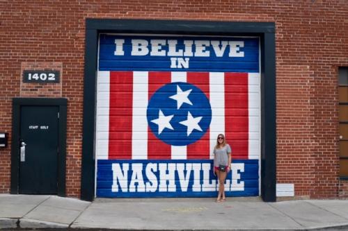 """I Believe in Nashville"" Mural, Nashville, TN"