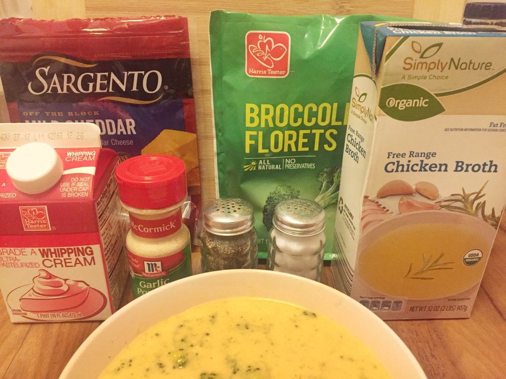 Ingredients you will need for Broccoli Cheddar Soup