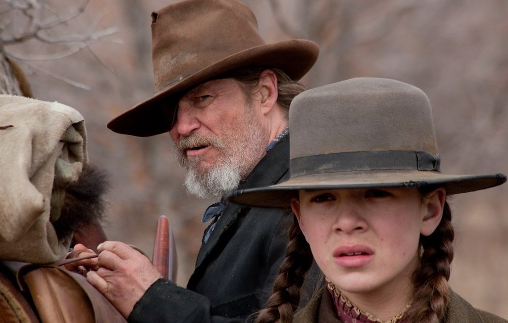 Jeff Bridges and Hailee Steinfeld in True Grit (Photograph ©2010 Paramount)