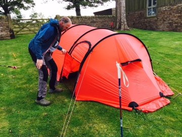 Conrad kindly agreed to put up my tent for me!