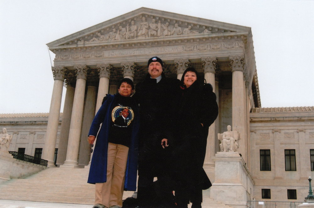 Tony in front of the Supreme Court House