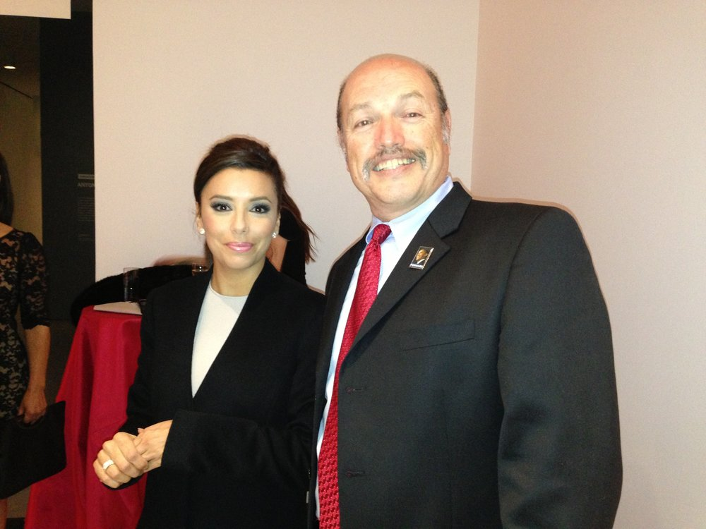 Tony with actress Eva Longoria