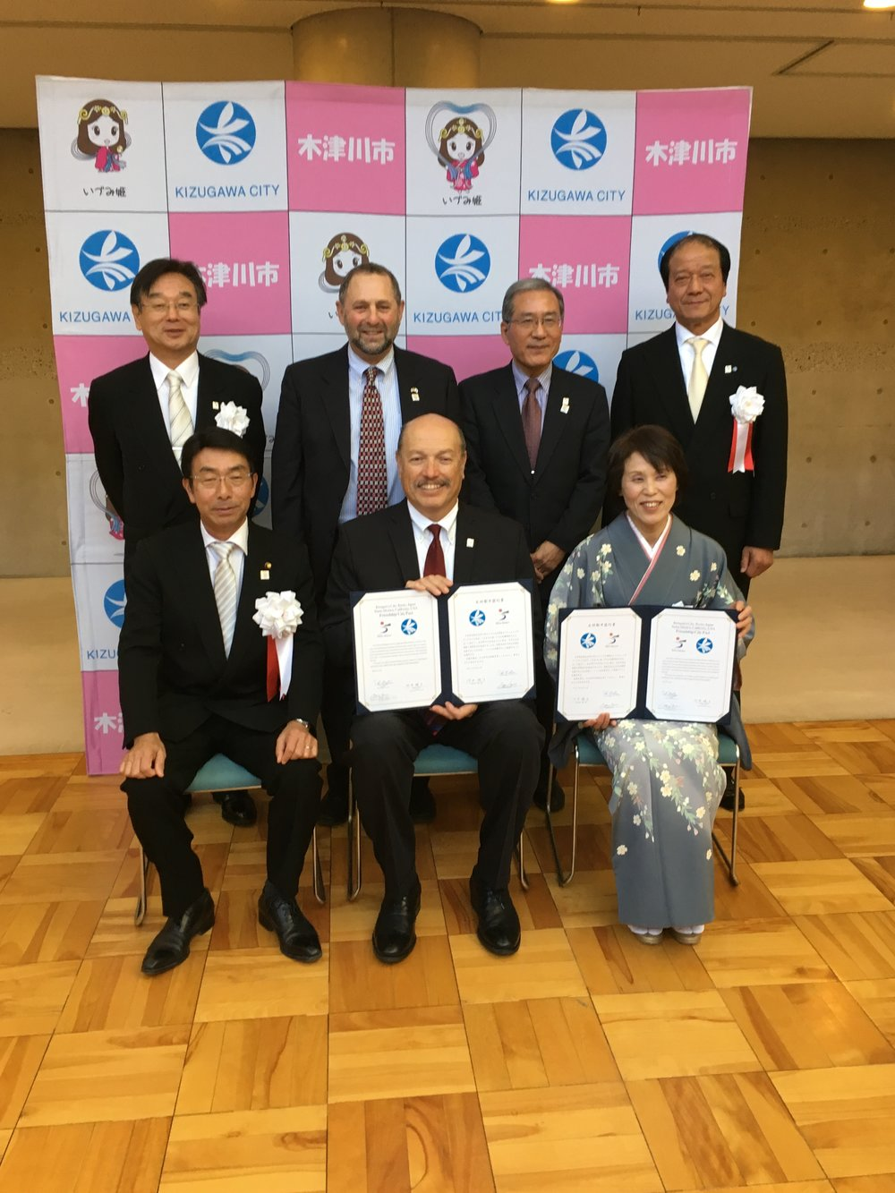 Tony attending the celebration of Santa Monica's sister city Kizugawa, Japan.