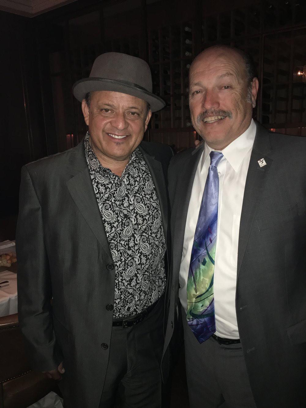 Tony with comedian Paul Rodriguez