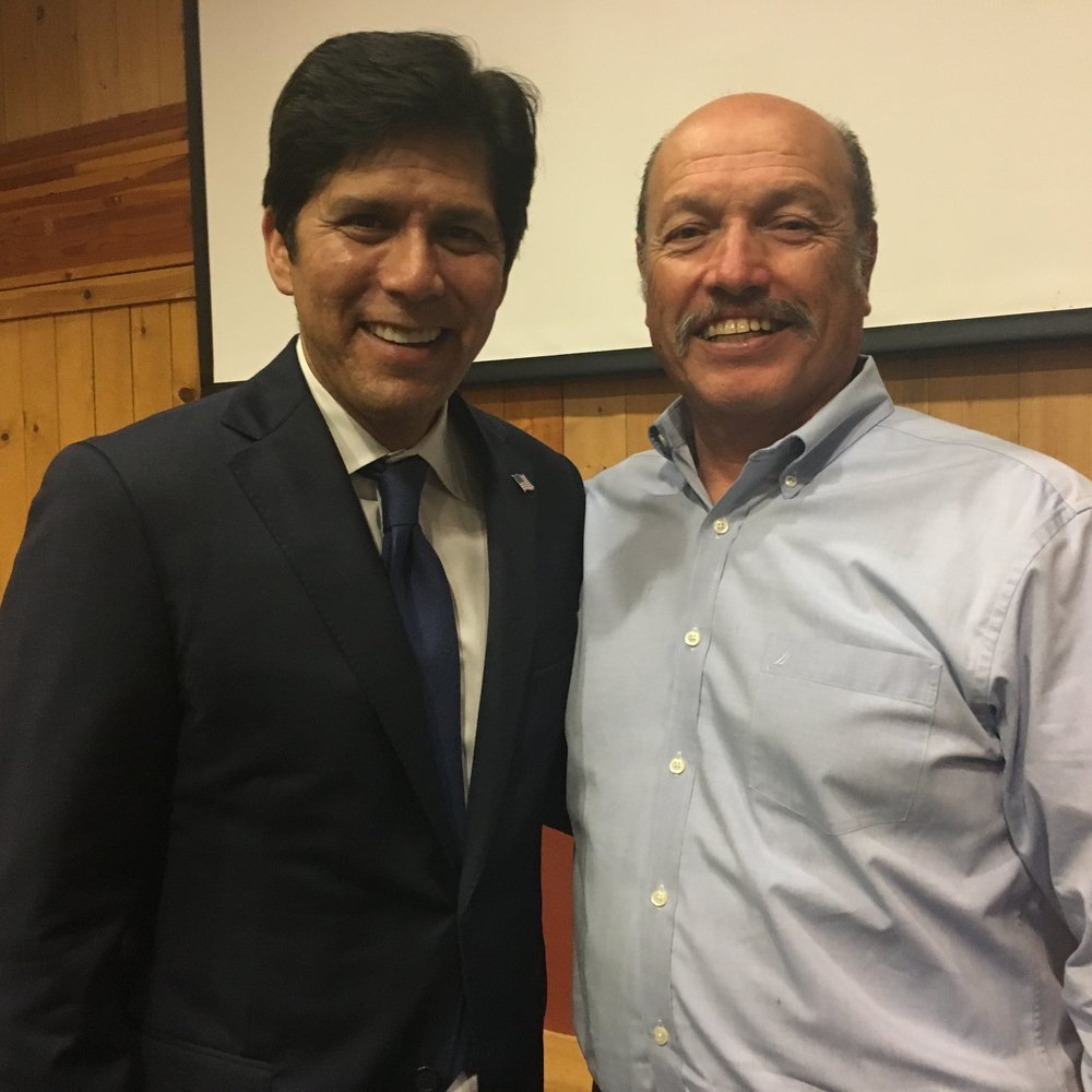 Tony with President pro Tempore of the California State Senate Kevin de Leon