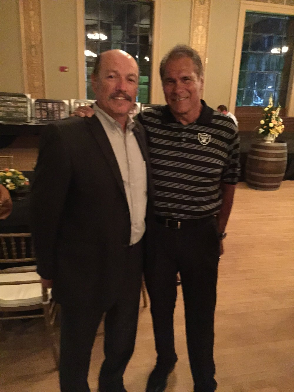 Tony with Super Bowl champion quarterback Jim Plunkett