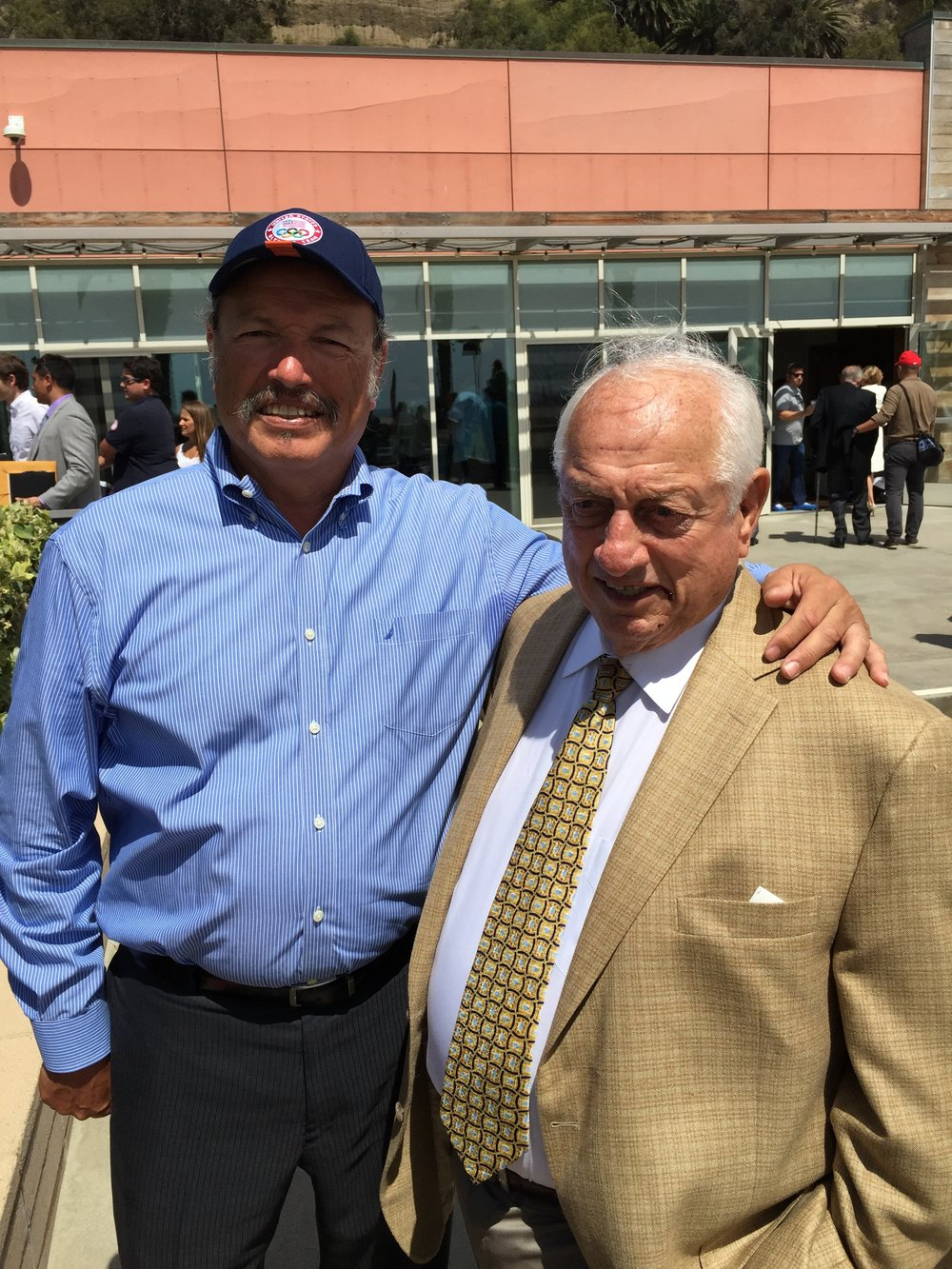 Tony with retired Dodgers manager Tommy Lasorda