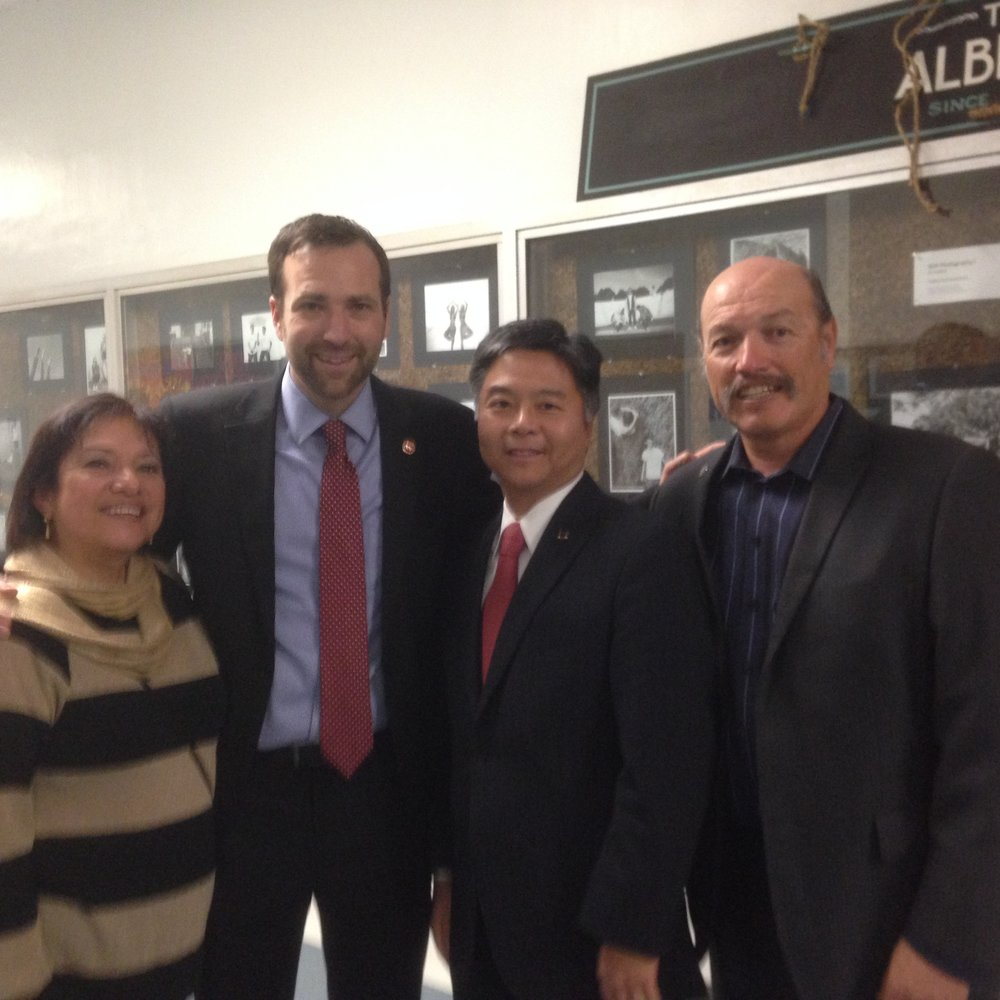 Tony with School Board member Maria Leon Vazquez, Senator Ben Allen, and Congressman Ted Lieu