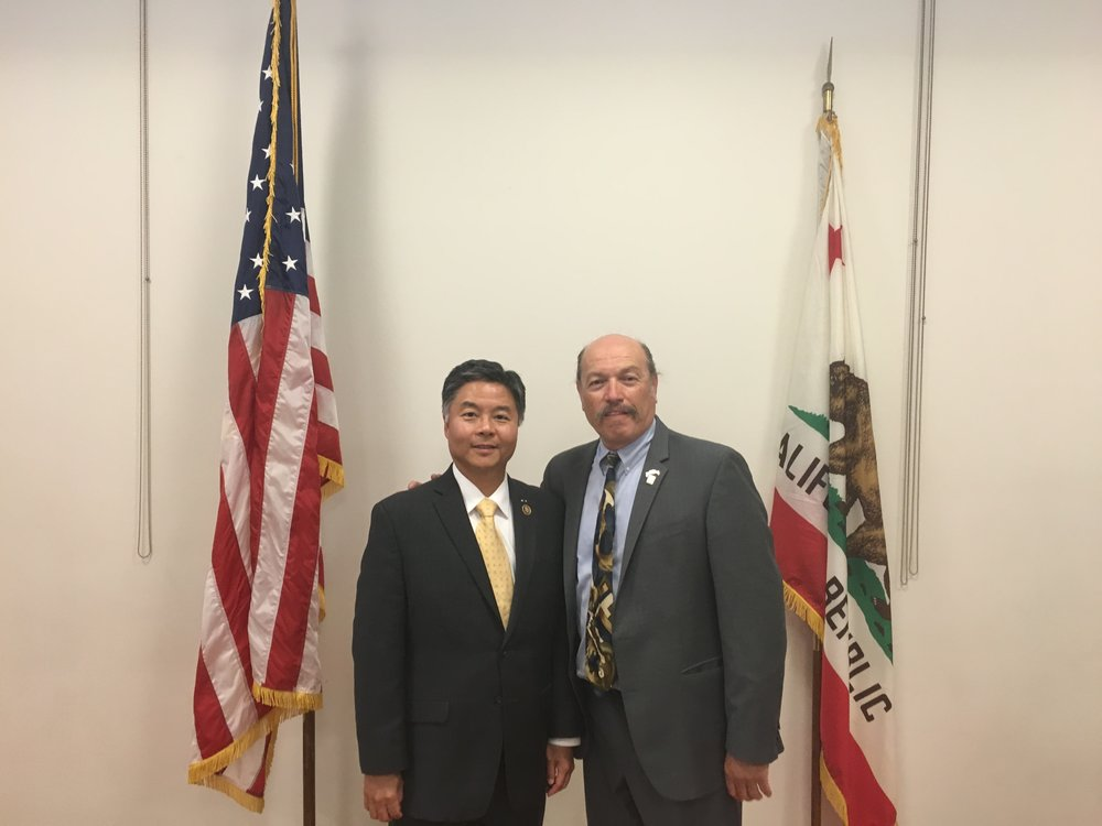 Tony with Congressman Ted Lieu