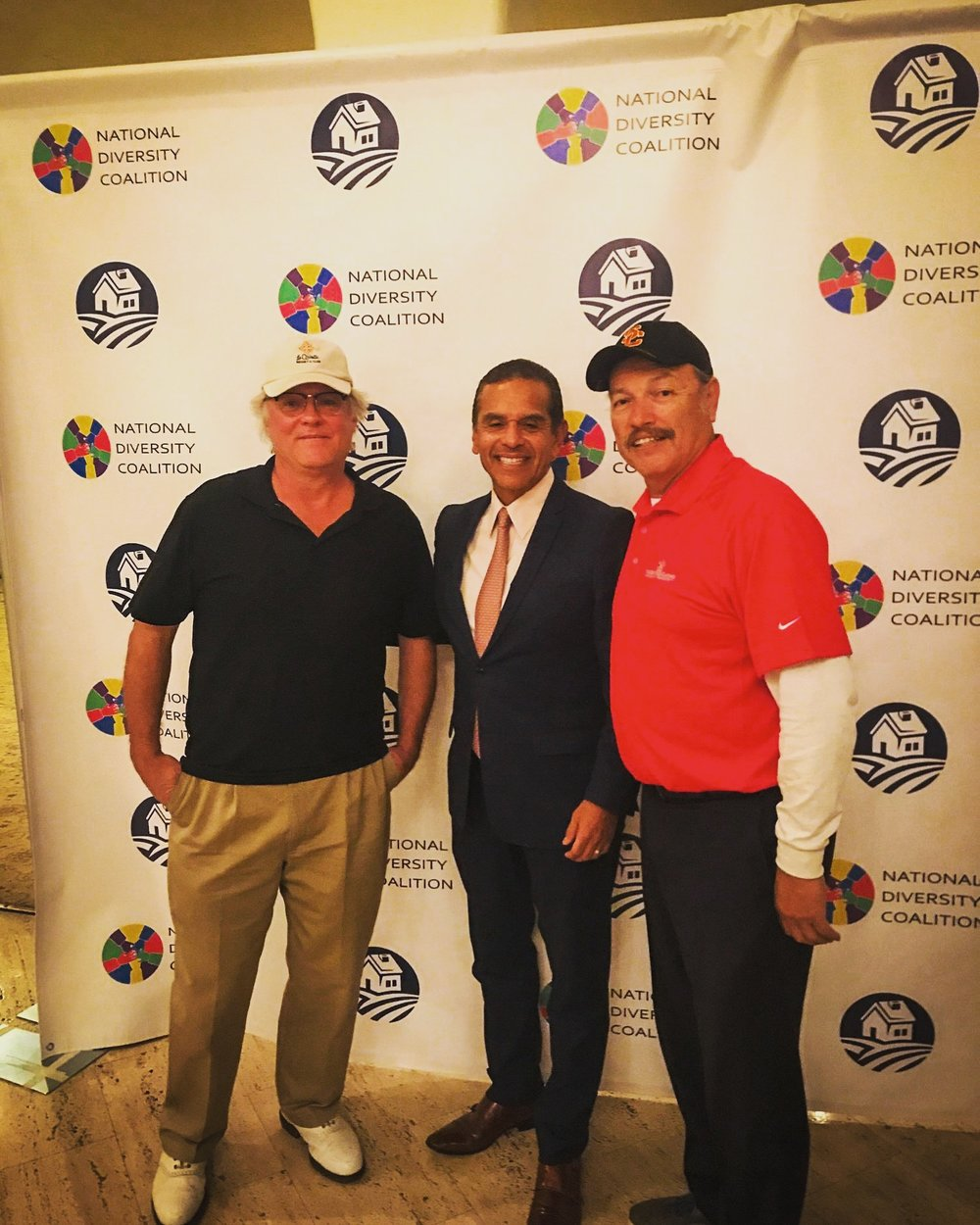 Tony with former LA City Mayor Antonio Villaraigosa and Ken LaBlanc at the National Diversity Coalition fundraiser.