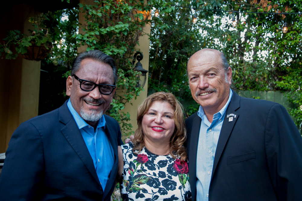 LA City Council member Gil Cedillo, Vanir Constructions CEO Dorene Dominguez, and Tony at one of his past fundraisers.