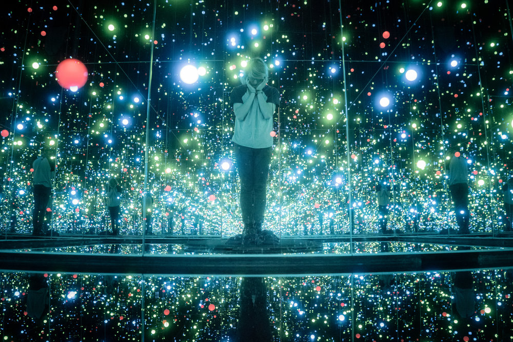 Gleaming Lights of the Souls  by Yayoi Kusama