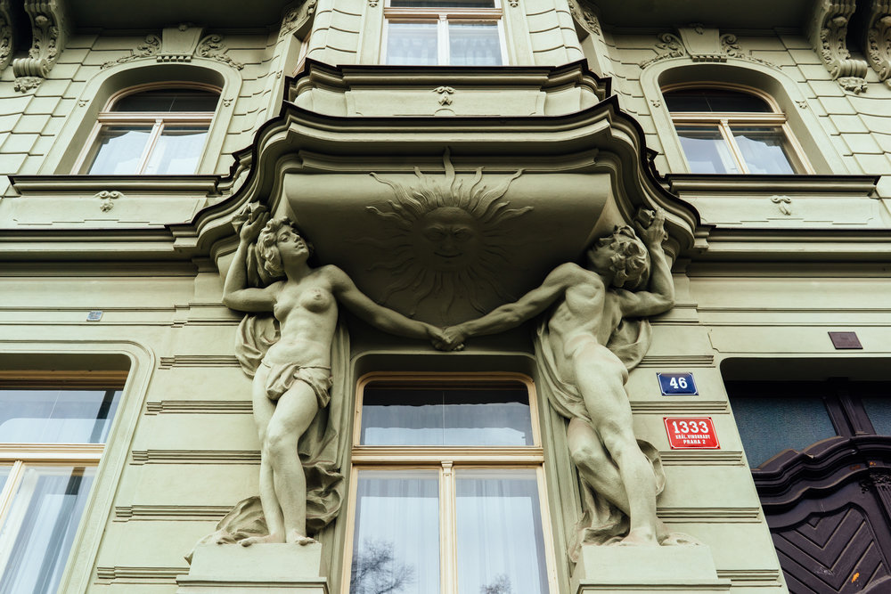 old neo-renaissance architecture, Prague