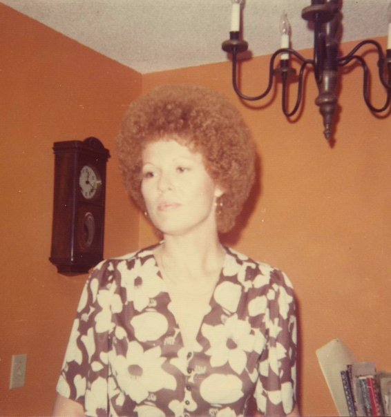Brooke Michal was and is a major jazz fan and friend of musicians and people in the music business. She hosted parties, introduced me to musicians and DJ Mort Fega, and gave me records to listen to when I was in high school. This is her at home in 1973.