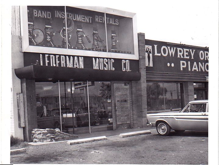 Lederman's Music store on Central Avenue in Phoenix in the 1960s.