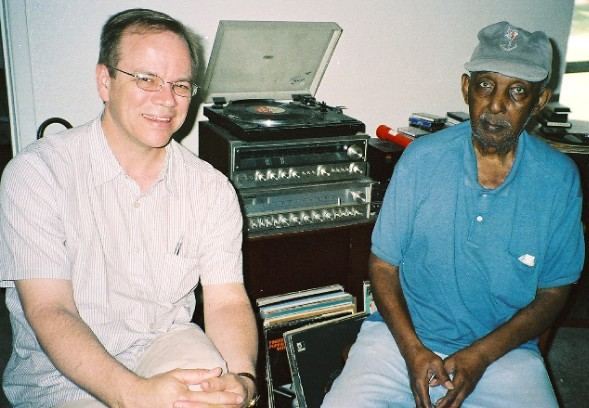 Allan Chase & Prince Shell, hanging out and listening to records, July 19, 2006 in Phoenix.