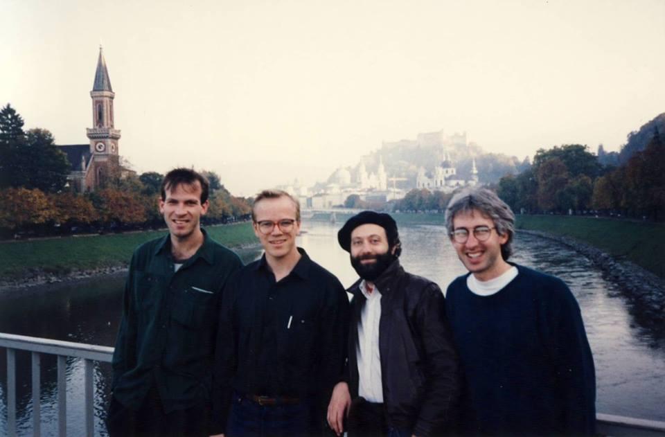 On tour in Salzburg, Austria. L to R: Tom Hall, Allan Chase, Bob Zung, Joel Springer.