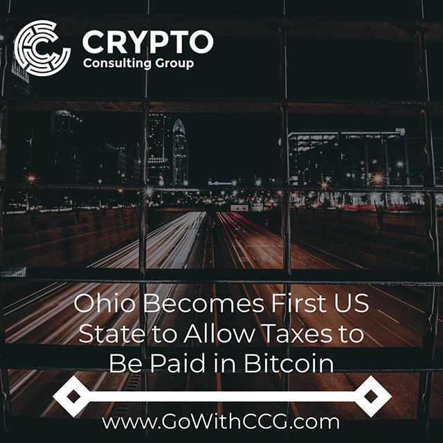 "Ohio has become the first U.S. state to allow taxes to be paid in bitcoin. . According to a report from The Wall Street Journal on Sunday, starting this week, companies in the state will be able to pay a variety of taxes, from tobacco sales tax to employee withholding tax to public utilities tax with the cryptocurrency. . The filing process involves three steps: First, businesses will have to register with the Office of the Ohio Treasurer through a dedicated portal called OhioCrypto.com. They then need to enter tax details such as payment amount and tax period, and, finally, the due amount is paid in bitcoin using a ""compatible"" crypto wallet, according to the portal. . . . #crypto #bitcoin #taxes #cryptocurrency #ether #ripple #eos #bch #btc #investing #trading #blockchain"