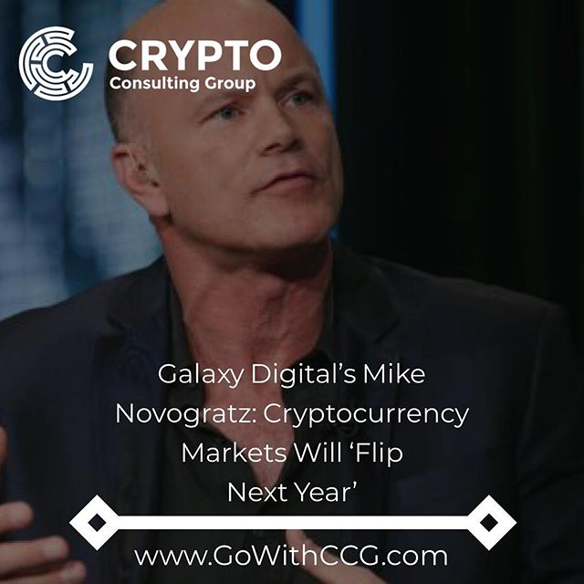 "Mike Novogratz, ex-Goldman Sachs partner and founder of Galaxy Digital, has said that he expects cryptocurrency to ""flip next year"" in an interview published by Financial Times (FT) Nov. 23. . During the interview, Novogratz said that ""this year has been challenging"" for Galaxy Digital –  a company that he hopes will become ""the Goldman Sachs of crypto"" – adding that ""it sucks to build a business in a bear market."" . According to FT, Novogratz predicted that financial institutions will transition from ""investing in cryptocurrency funds to investing in cryptocurrencies proper in the first quarter of next year."" . . . #crypto #cryptocurrency #bitcoin #blockchain #trading #investing #bottom #bulls #bears #funds #hedgefund #profit #btc #ethereum #eth #ripple #xrp #eos"