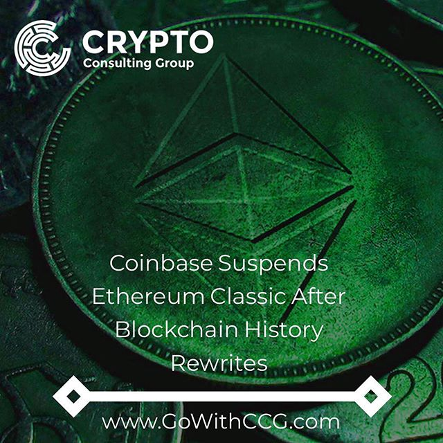 "Crypto exchange Coinbase has halted all ethereum classic transactions, withdrawals and deposits due to a series of blockchain history reorganizations on the network. . Ethereum classic saw more than 100 blocks ""reorganized"" during a potential 51 percent attack late Sunday, according to at least two different block explorers – Bitfly (Etherchain) and Blockscout. Coinbase said in its blog post that it detected some 88,500 ETC being double-spent (totaling some $460,000). . Media publication Coinness reported Monday that an in-house analyst had detected an abnormal hash rate (or computation energy) going into a single mining pool, potentially causing mass reorganizations (reorgs) of mined blocks. Though initially refuted by the core proponents behind ethereum classic on Twitter, the official account has now affirmed potential cause for concern, tweeting out: . ""We are now working with Slow Mist and many others in the crypto community. We recommend exchanges and pool significantly increase confirmation times."" . . . #cryptocurrency #cryptotrading #cryptocurrencynews #ethereumclassic #coinbase #etc #bitcoin #crypto #blockchain #louisville #consulting #tech"