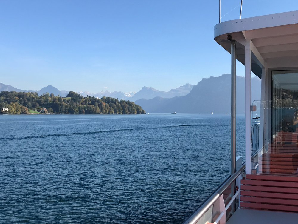 Gorgeous views on Lake Lucerne