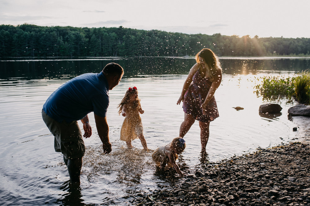 Nate & Laurie |Maine Family Portrait Session {Photo by Rebecca Elaine}