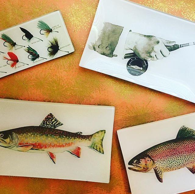 Our decoupaged glass fly fishing trays make their debut at Vintage Market Days this weekend! Come snag great gifts. #vavabode #vintagemarketdayscoloradosprings #decoupage #handmade #naturalcuriosities