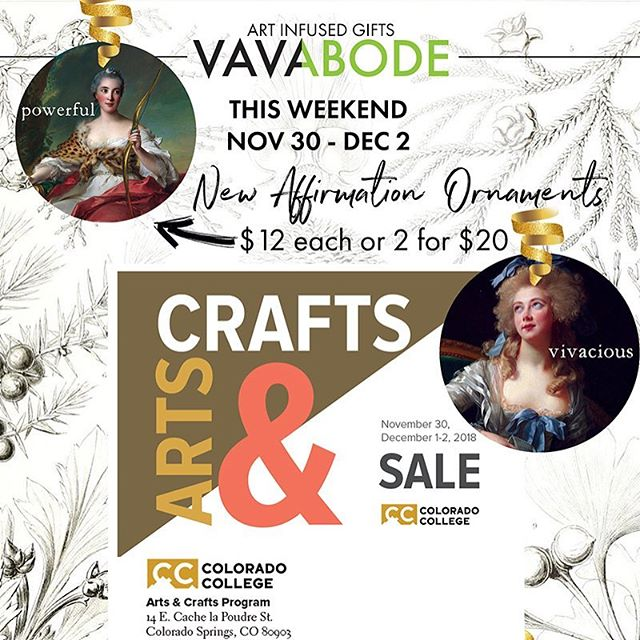 Come see us at Colorado College this Friday 4-8 and Saturday and Sunday 10-5! #vavabode #handmade #homedecor