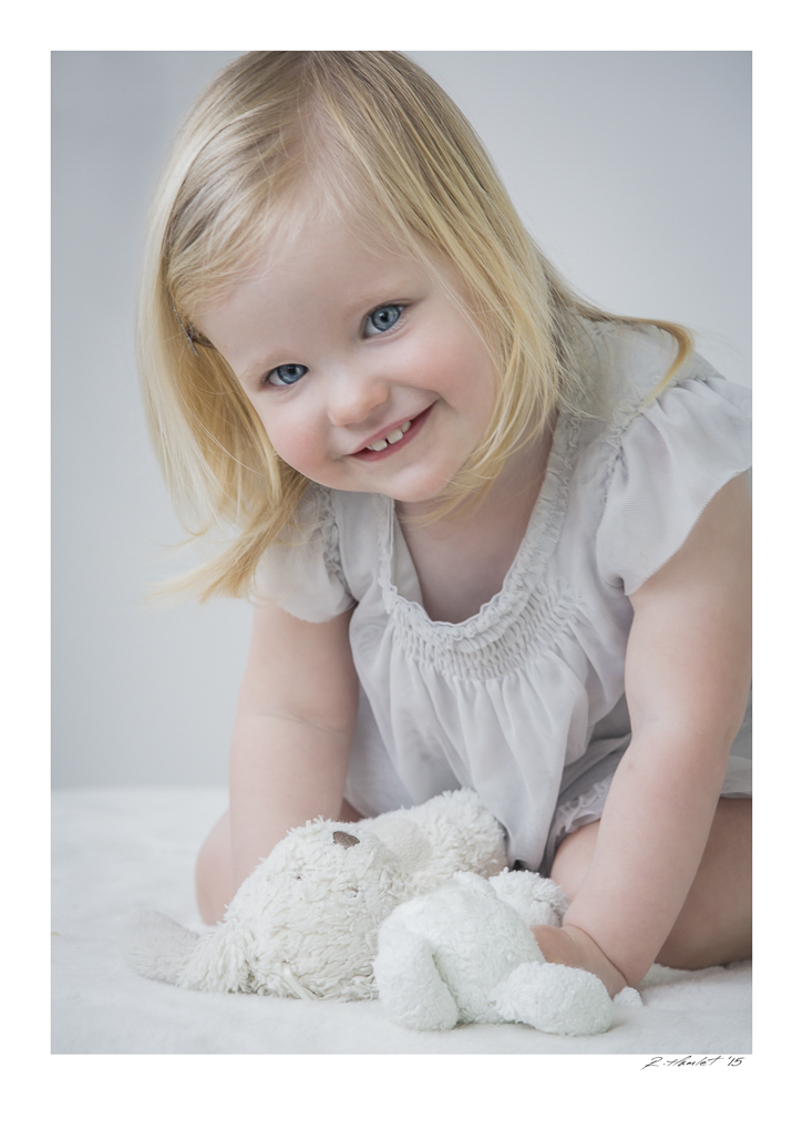 Smiling Girl in Studio Russell Hamlet Photography