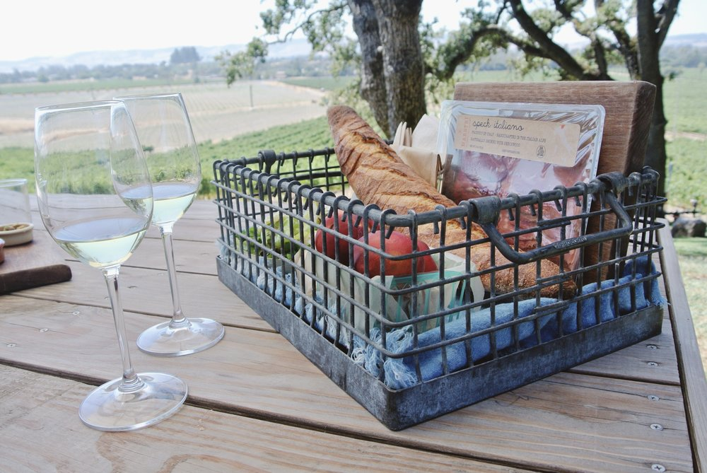 How cute is their picnic basket?!
