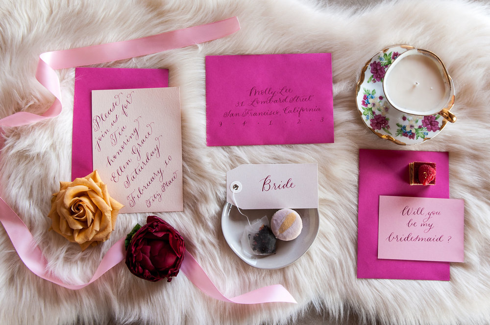 bridal tea party invitation suite styled by crush co.