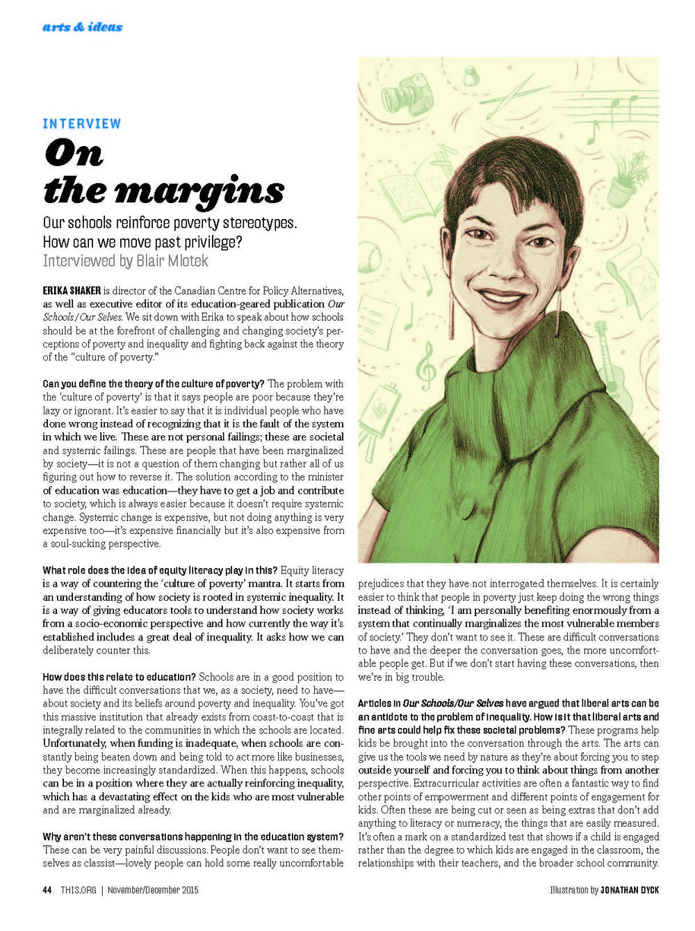 this magazine - On the Margins: In conversation with Erika Shaker