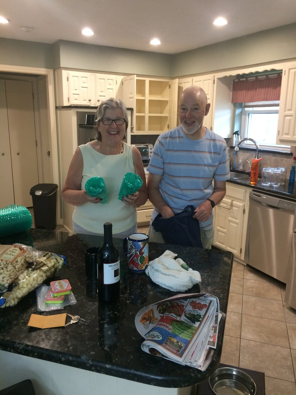 They happily accept wine as payment - thank you Peter and Pauline :) -