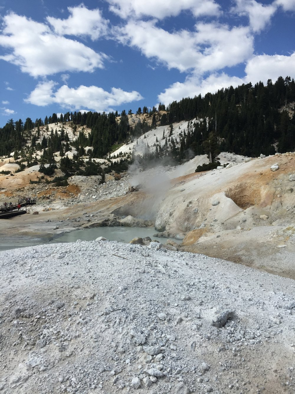 Once we had exhausted ourselves climbing Lassen Peak, we went to check out Bumpass Hell, which is an area of hydrothermal sites and acres of bubbling mud pots, very similar to parts of Yosemite. The park is full of many trails (all ranging in difficulty) and lakes, it's quiet and beautiful especially this time of year. Parts of the northern trails also link up to the Pacific Crest Trail.     Next stop Brice Station Vineyard and San Francisco!